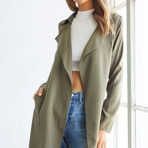 Forever 21 Green/olive trench coach